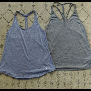 Racer back strapped old navy go dry active tanks